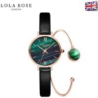 LOLA ROSE 珞拉芮丝 LR2032 孔雀石纹理 女士时装表+手镯