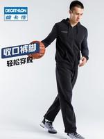 迪卡儂健身套裝男秋季訓練跑步運動服籃球服保暖TARMAK