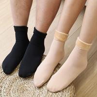 PinCai 品彩 加绒雪地袜 黑色/肤色可选 5双装