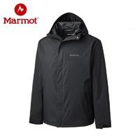 Marmot/土拨鼠2019新款户外100%压胶防泼水透气男士冲锋衣
