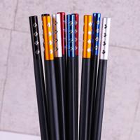 浩雅  合金筷子 不锈不发霉耐高温合金筷10双装 *7件