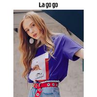 La·go·go 拉谷谷 女士印花短袖T恤
