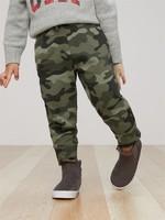 Gap 盖璞 男幼儿长裤 舒适纯棉系带迷彩休闲裤
