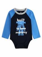 Gap 婴儿 活力印花拼色长袖连体衣