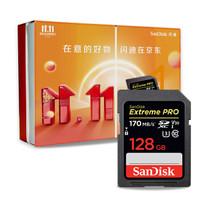 SanDisk闪迪相机卡128G 4K高清SD卡 UHS-I微单反摄像储存大卡 U3 V30闪存卡 128G SD相机卡 170MB/秒