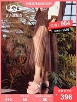 (预售)UGG2018秋冬女士豆豆便鞋毛毛鞋Angelababy同款1019199