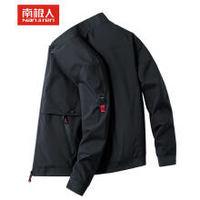 30日12点:南极人夹克男装上衣外套韩版修身运动棒球服  NJR1909JK 黑色 XL码