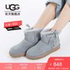 UGG 2019冬季新款女士经典靴经典新奇系列粉嫩糖果色系带款短靴雪地靴 1103756 蓝灰色 | GYS 40