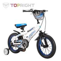 途锐达(TOPRIGHT) 儿童自行车3岁6岁小孩童车玩具车 蜘蛛侠蓝色 12寸适合高80-105cm