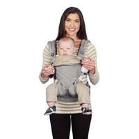 美国Ergobaby进口婴儿背带360系列4种背法四季通用多功能宝宝抱婴带4-36个月 灰色