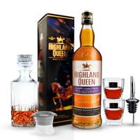 高地女王(Highland Queen)洋酒 雪莉桶 苏格兰调配型威士忌 英国原瓶进口洋酒700ml 单支装送酒具套装 *3件