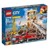 乐高(LEGO)警察城市男孩积木玩具 60216 城市消防救援队