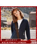 诺诗兰(NORTHLAND)运动户外女式秋冬时尚抓绒休闲外套GF082606