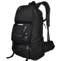 力开力朗 065 登山包 多功能户外旅行背包运动双肩包 45L 经典款 黑色