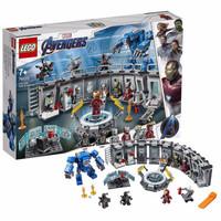 LEGO乐高超级英雄系列小颗?;就婢?76125 钢铁侠机甲陈列室