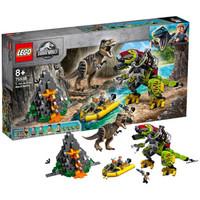 LEGO乐高侏罗纪世界系列 75938 霸王龙大战机甲恐龙