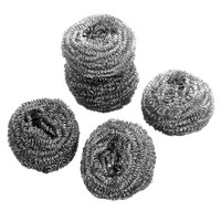 乾越(qianyue)20个厨房不锈钢金属钢丝球清洁球清洁刷锅刷 20只装
