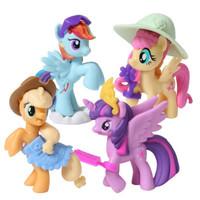 孩之宝 小马宝莉 女孩玩具玩偶礼物 节日礼物 迷你故事小马 4款套装