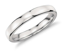 Blue Nile 低拱内圈圆弧形 铂金结婚戒指(3 毫米)