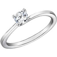 双11预售 : Blue Nile 14K白金小巧扭纹四爪单石订婚戒指(0.3克拉,SI净度,H色)