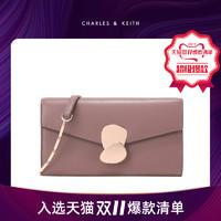长款钱包CK6-10770330金属扣斜挎女士小链条包