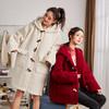唐狮2019冬季新款牛角扣大衣女中长款韩版仿羊羔绒外套