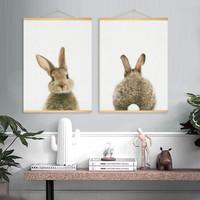 北欧可爱萌物动物装饰画挂画