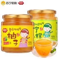 福事多蜂蜜柚子柠檬茶600g*2瓶水果茶韩国风味蜂蜜茶柚子酱花茶