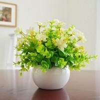 仿真植物小盆栽景室內家居客廳裝飾假綠植塑料假花米蘭茶幾擺設件