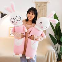 可爱小兔子长条抱枕  全长80厘米 3个颜色3个表情