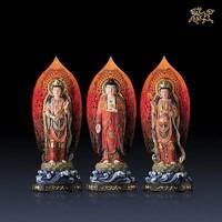 铜师傅 《西方三圣(彩绘版)》 全铜摆件