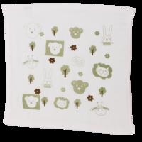 良良(liangliang) 婴儿毛巾 婴幼儿生态竹纺方巾 绿花