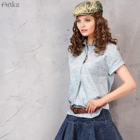 阿卡夏装新款翻领不对称摆卷边袖口简约棉质舒适3色衬衫SA11569C
