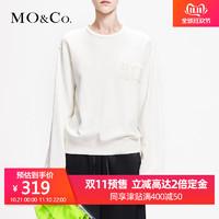 MOCO2019春季新品爱丽丝圆领标语刺绣字母卫衣MAI1SWS011 摩安珂