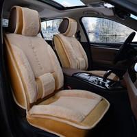 冬季汽车坐垫短毛绒透气棉垫冬天毛垫全包围车垫子通用座椅套座垫