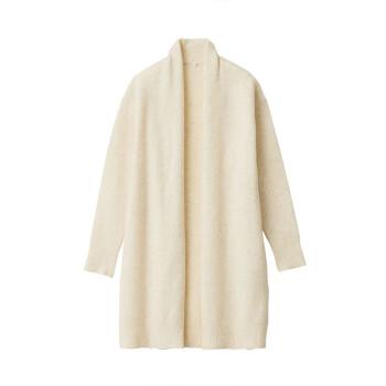 无印良品 MUJI 牦牛绒毛圈花式线 长开衫