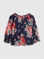 Gap 蓋璞 嬰兒 縮褶花卉印花長袖上衣
