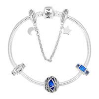 PANDORA 潘多拉 日月星辰蓝色创意DIY串珠手链 PDL0727-18