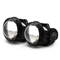 途虎定制 天蝎座 LED雙光透鏡套裝+6000K白亮光+35W LED燈珠 汽車大燈改裝升級套裝 一對裝