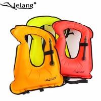 lelang便攜式充氣浮力救生背心 浮潛救生衣潛水沖浪漂流海島