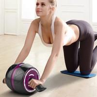 OHHUI 歐薈 健腹輪 自動回彈靜音巨輪收腹滾輪腹肌輪健腹器減肚子健身器材 豪華巨輪