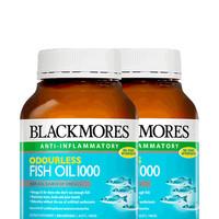 2瓶*澳洲进口Blackmores澳佳宝无腥味深海yu油400粒omega-3