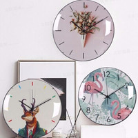 ins静音挂钟半球玻璃钟表石英钟表