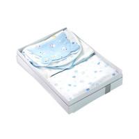預售:全棉時代 PurCotton 2019白底藍色棉花朵朵嬰兒用品護理八件套禮盒