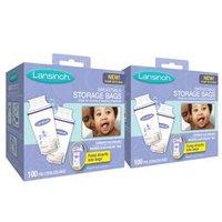 Lansinoh 兰思诺 储奶袋 180ml*100片   2盒装 +子初 婴儿浴巾
