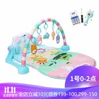 貝恩施 嬰兒玩具健身架腳踏鋼琴男孩女孩新生兒寶寶玩具益智玩具禮物0-1歲 【充電款】Pastorl動物園+搖鈴撥浪鼓