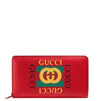GUCCI 古驰 标识印花系列 男女通用手拿钱包