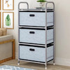 索尔诺 抽屉式收纳柜加厚加大置物架层架 玩具收纳盒家用收纳箱整理储物架子3301(牛仔色-收纳架3301)