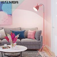 北欧落地灯led护眼卧室房间宿舍女生可爱粉色温馨创意马卡龙台灯