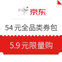 京東 領券中心 每天15點限量 5.9元購全品券禮包